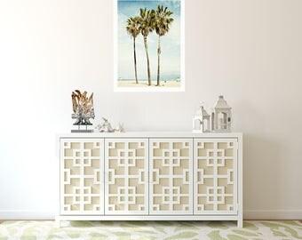 Venice Beach, Palm Trees, California Decor, Los Angeles, Venice Beach Palms, Vertical Print, Photography, Wall Art, Beach Decor