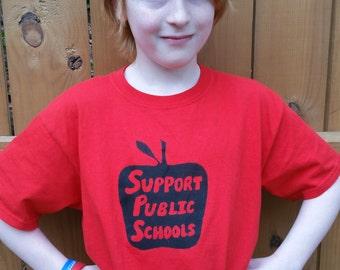 Support Public Schools Kids Shirt