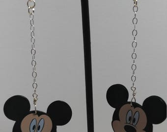 Surprised Mickey Mouse dangle earrings