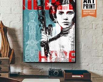 Star Wars Canvas - Princess Leia - Star Wars Patent Art, large Canvas Art Print, fan art, Star Wars gift, Star Wars canvas art, Pop Art