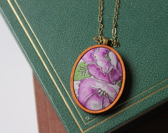 morning glory pendant | Maria White Lowell | flower necklace | garden jewelry | gift for her