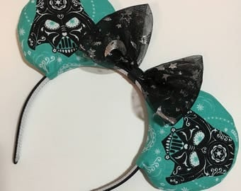 Star Wars Darth Vader Mouse Ears with Bow - Mad Ears - IN STOCK