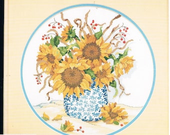 Dimensons No Count Cross Stitch Kit - Summer Sunflowers