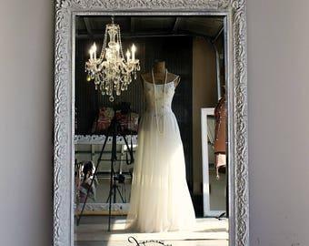 H U G E  Paisley Design  Mirror, Vintage Ornate Leaning Mirror, Floor Mirror, Hollywood Regency