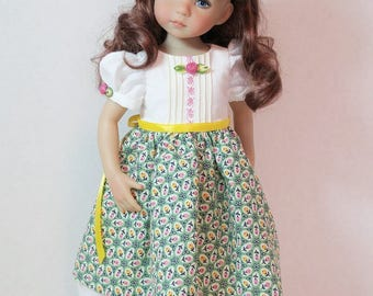 """Spring/Easter Dress and Hairbow for 13"""" Dianna Effner Little Darling"""