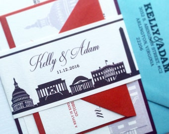 Washington DC Wedding Invitation - SAMPLE