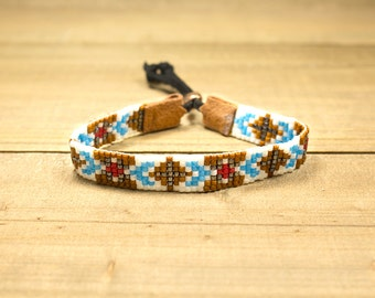 Bead Woven Bracelet - Beaded Bracelet - Boho Bracelet - Chic Bracelet - Womens Jewelry - Gift For Her - Adjustable Bracelet - Under 25