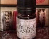 FRENCH JASMINE Vegan Perfume Oil / Jasmine Floral Fragrance / Beautiful Floral scent / Handcrafted Perfume Oil
