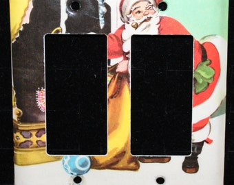 The Night Before Christmas Vintage Golden Book Decora Double Switch Plate Light Cover Wallplate