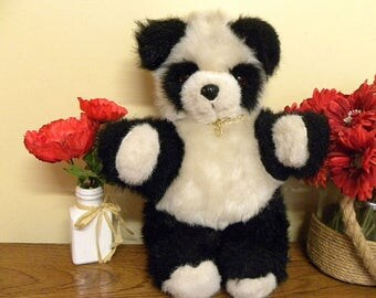 Vintage Bears - Real Soft Toys Panda Bear - 16 inch Plush Panda with Label