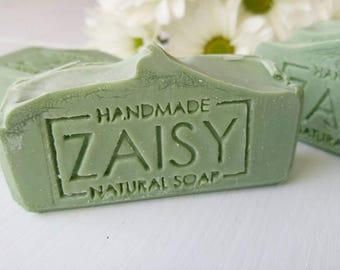 SALE! Moroccan Mint Soap, Handmade Soap, Skin Loving Oils, Cruelty Free, All Natural, Body Soap, Green Mint Soap, Cold Process, Vegan Soap