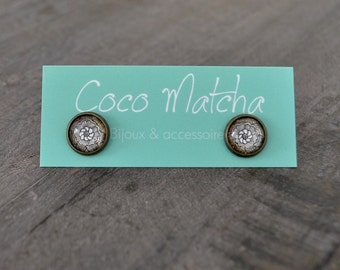 Clous d'oreilles - Stud earrings - Flower earrings - Bijou bohème - Nature inspired jewelry - Coco Matcha