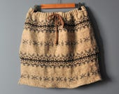 Reserved for Billy D/Upcycled Rustic Sweater Skirt/Wool Tunic Style Skirt/Womens Winter Skirt