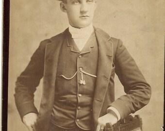 Antique Cabinet Photograph Identified Fancy Man