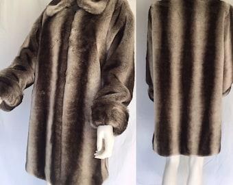 Vintage Faux 'Chinchilla' Coat by Dennis Basso