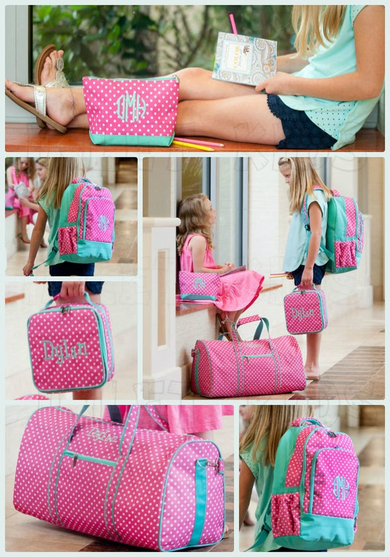 Pink Polka Dot Backpack, Bags and Accessories