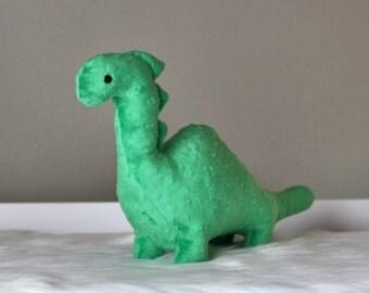 Stuffed Dinosaur Toy - Green Minky Plush Dinosaur - Baby Shower Gift - Nursery Decor - Stuffed Animal - Dino Toy -  Valentines Day Gift