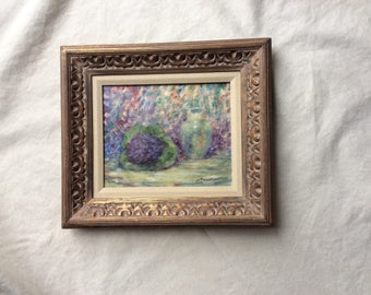 Antique French Impressionist Still Life Painting - Oil on Canvas - Framed  Signed Art