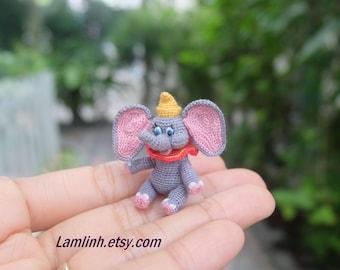 dollhouse miniature dolls - crochet amigurumi elephant