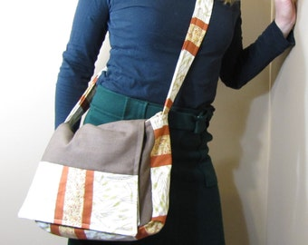 Patchwork Messenger Bag Wheat Harvest