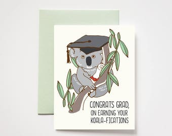 Koala Graduation Congrats Grad Greeting Card
