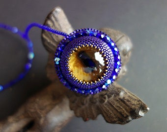 "FREE SHIPPING Pendant ""big blue eyes"""