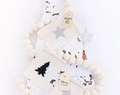 Shop this pic! Handmade White Felt Ball Garland -  3 ft and 5 ft lengths - SHIPS FREE ! Ready to hang! Easy Christmas + everyday decorating