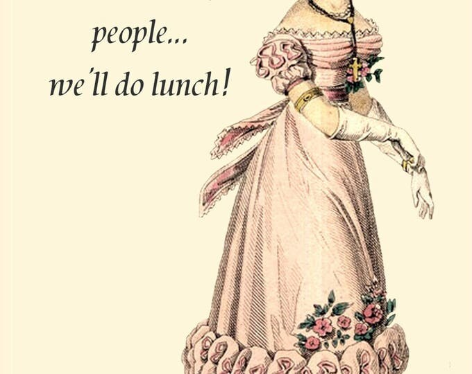 Have Your People Call My People... We'll Do Lunch. Postcard. Card. 4x6 Glossy Postcard. Gift for her. Funny Saying. Funny Quote. Free Ship.
