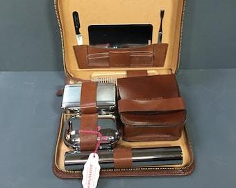 Vintage Mens Grooming Kit in Original Box Gentleman's Travel Vanity 1950s
