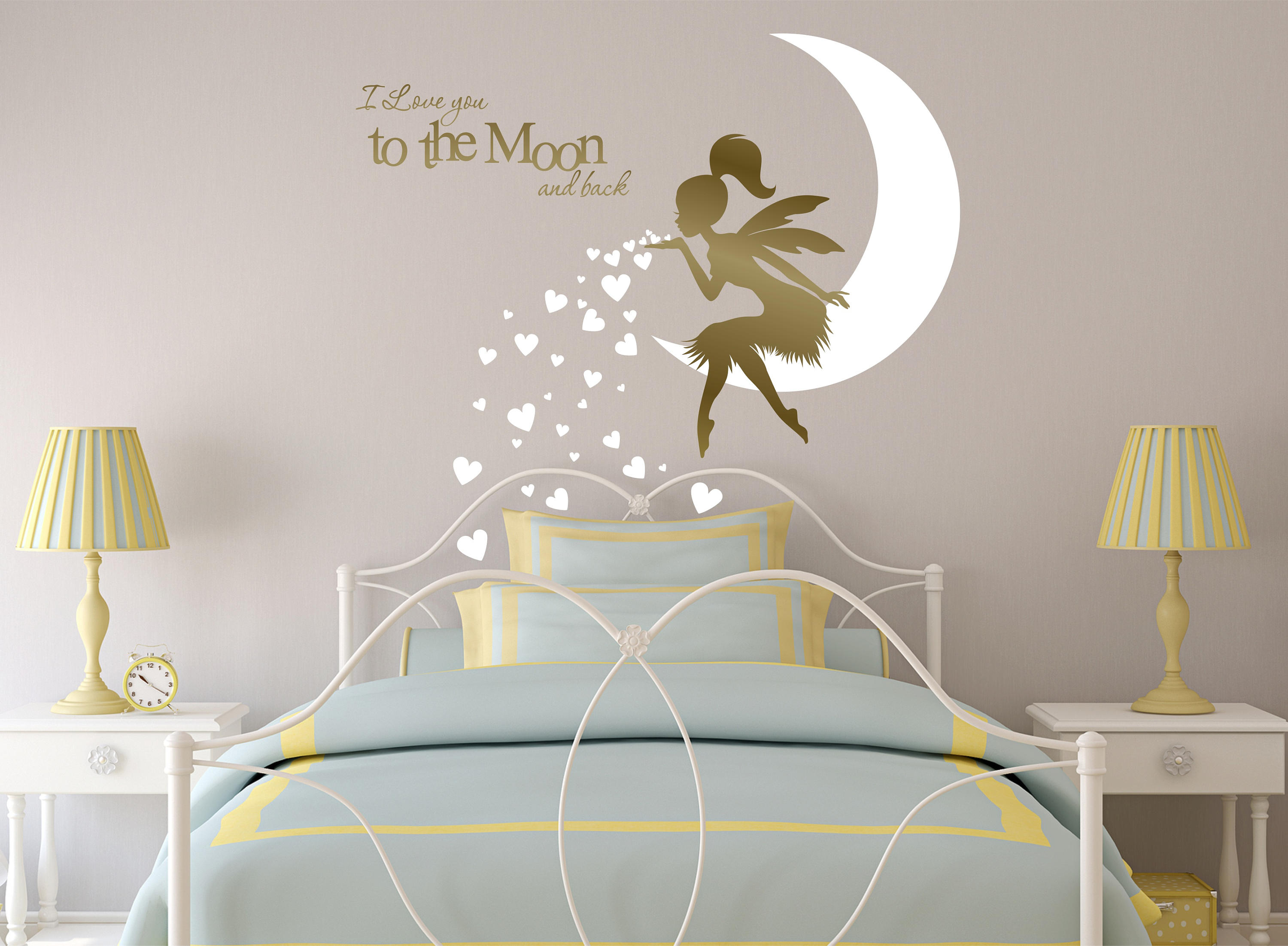 Fairy wall decal fairy blowing hearts fairy blowing kisses zoom amipublicfo Gallery