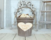 Wedding Wishing Well Bucket List Bucket Sign A Heart Bucket Farmhouse Wedding