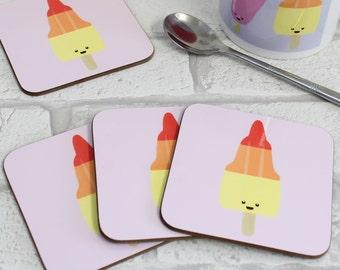 Retro Ice Lolly Coaster - Zoom / Rocket Ice Cream