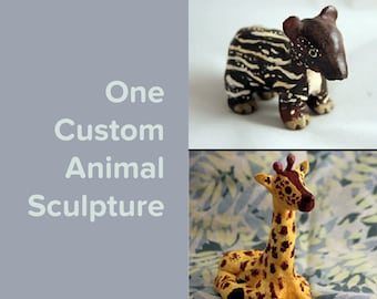 One Custom Animal Sculpture