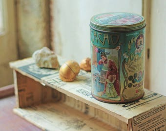SALE 20% Very RARE Collection object Van Houten Cocoa Tin