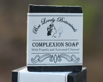 Activated Charcoal + Propolis Face Soap Propolis || Complexion Soap with Charcoal and Propolis || Activated Charcoal Face Cleanser