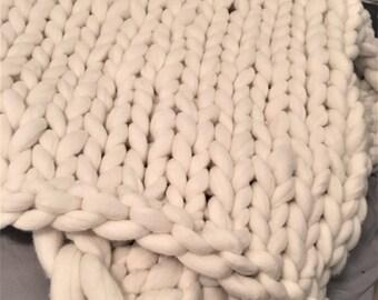 king Wool Blanket, FREE SHIPPING, merino king blanket, chunky knit blanket, king size blanket, chunky knit, chunky blanket, colors and sizes