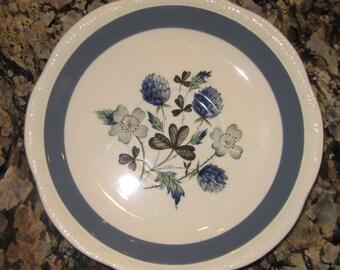 Alfred Meakin Blue Clover Saucer Set