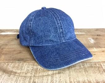 Blue Jean Hat Etsy