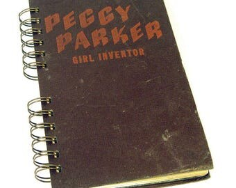1946 PEGGY PARKER INVENTOR Handmade Journal Vintage Upcycled Book