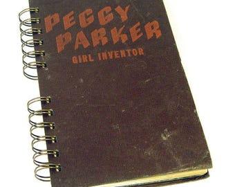 1946 PEGGY PARKER INVENTOR Handmade Journal Vintage Upcycled Book