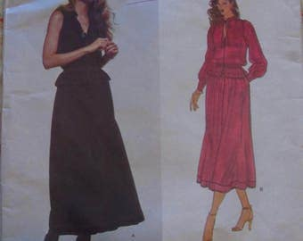 70s Vogue 2012 Jean Muir Dress Pattern 12 Designer Original FF
