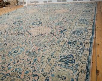 10x14 Vintage Kashan Carpet