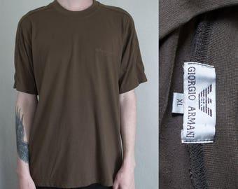green Giorgio Armani tshirt - XL