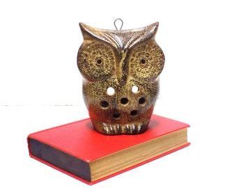 Vintage Ceramic Owl Tea Light Candle Holder