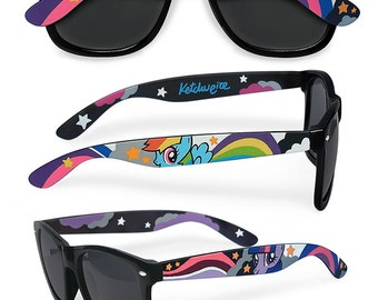 My Little Pony gift for her women Sunglasses birthday gift for girlfriend personalized customized unique festival cute Rainbow Wayfarer
