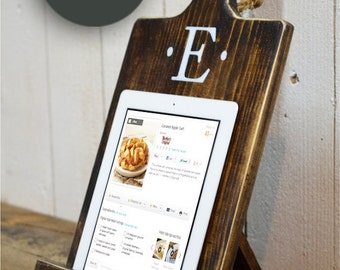 Gift Wood iPad Stand - Cutting Board Style Cookbook Holder