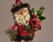 Unique Woodland Style Santa Claus St Nicholas Christmas Art Doll