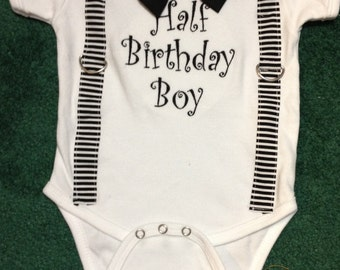 Half Birthday Boy onsie