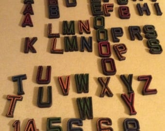 Vintage Alphabet Letters Plastic