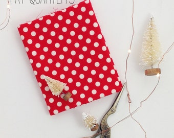 Fat Quarters, Red and White Fabric, Riley Blake Fabric, Polk-A-Dot Fabric, Fabric, Fabric By The Yard, Christmas Fabric